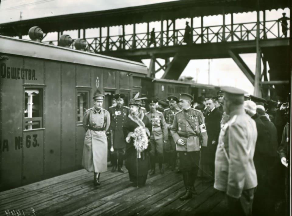 Освящение военно-санитарного поезда Императорского Российского Пожарного