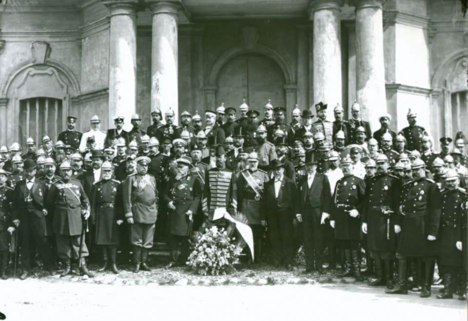 Попечители пожарных Обществ и представители пожарных частей Санкт-Петербурга 27 мая 1903 г.