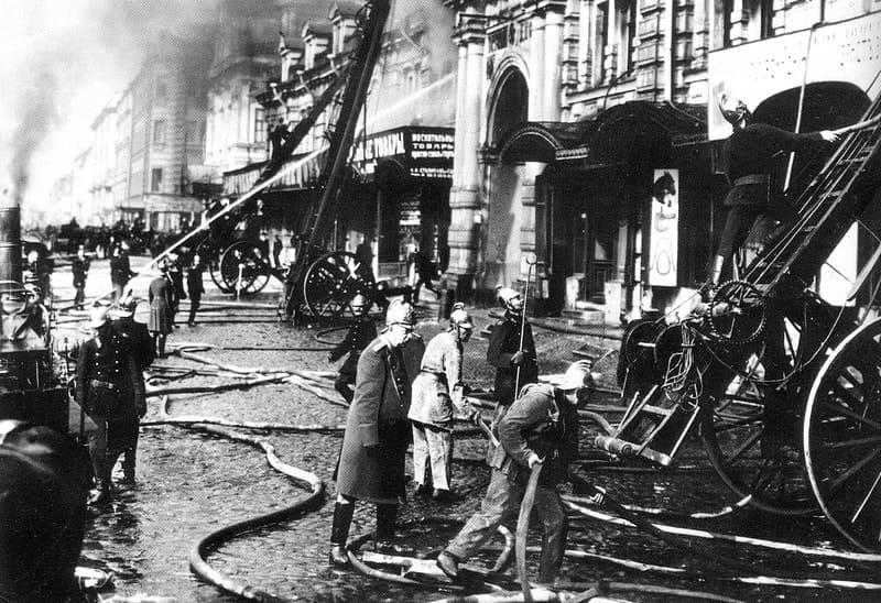 Пожар на набережной Фонтанки 6 января 1914 года