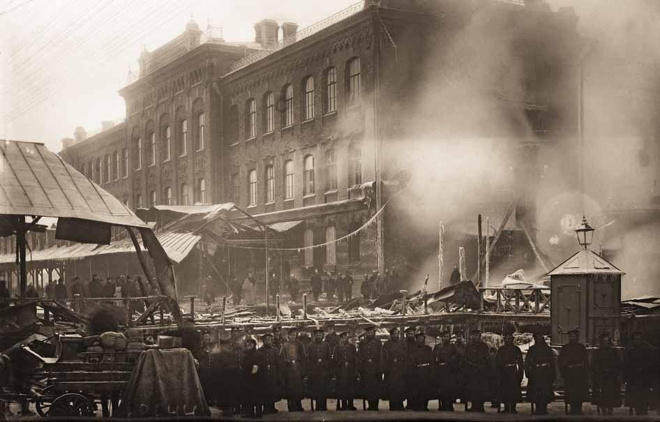 Пожар паркетной фабрики «Леров и Арендт» Санкт-Петербург. 1907 г.