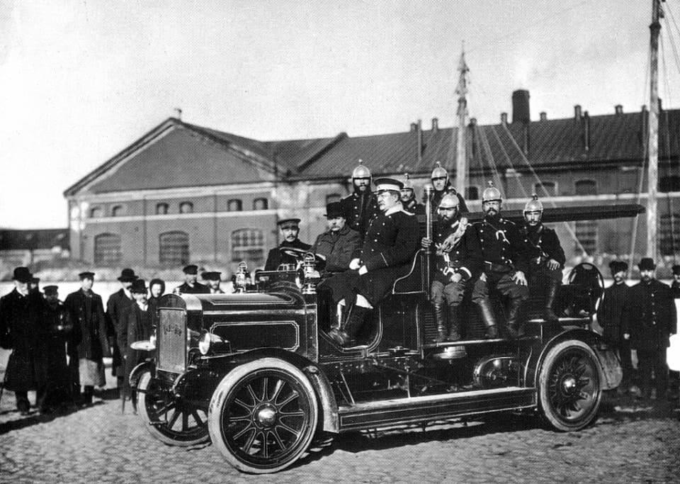 Пожарный выезд. 1911 год.