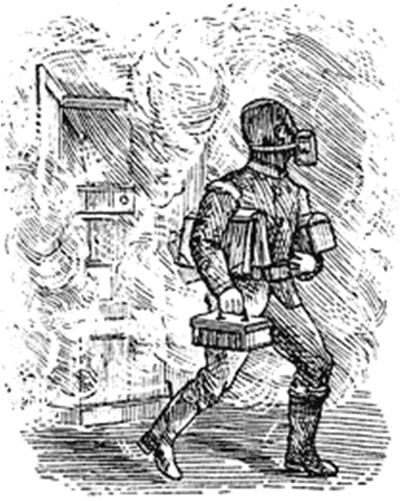 Респиратор для пожарных Джона Тинделла, 1871 год