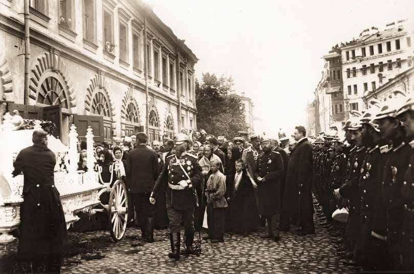 Церемония похорон пятерых пожарных 28 мая 1906 г.