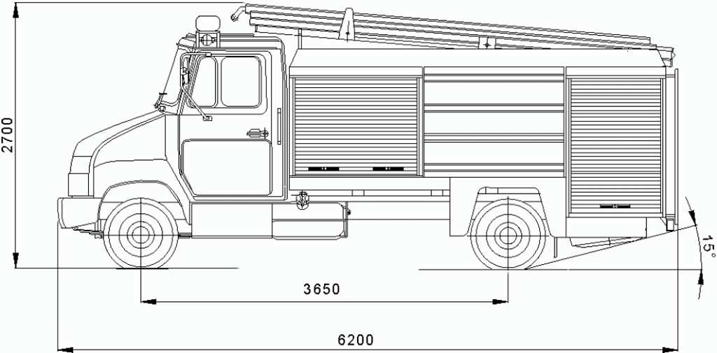 Чертеж АЦ-2,0-4/400 (5301)