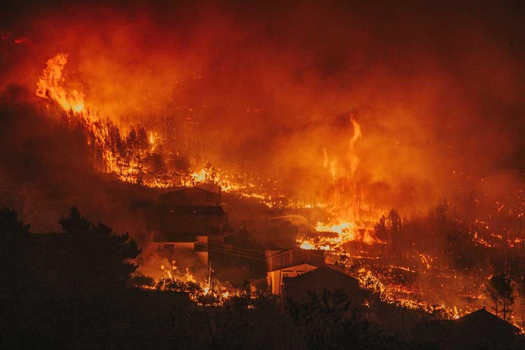 Массовые пожары в г. Сплит (Хорватия)
