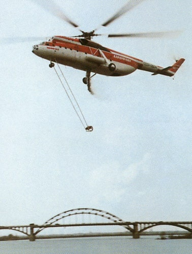Пожарный вертолет Ми-6ПЖ на испытаниях