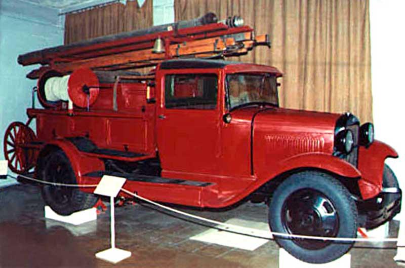 Пожарная машина ПМГ-1 в музее