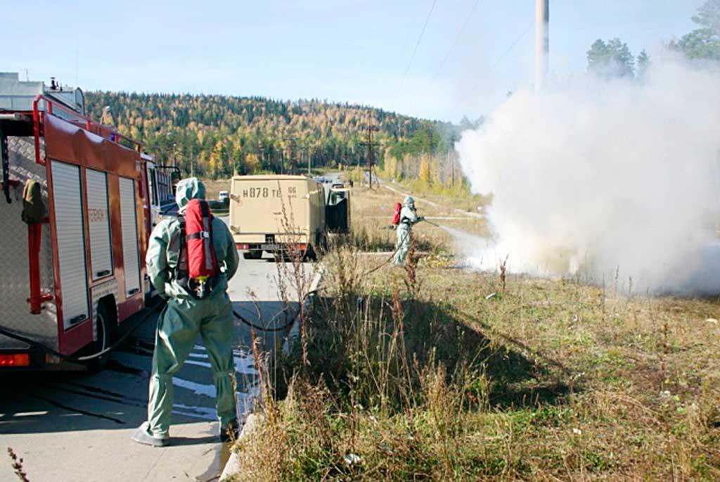 Подача огнетушащих веществ от АПП-1.0-40-2
