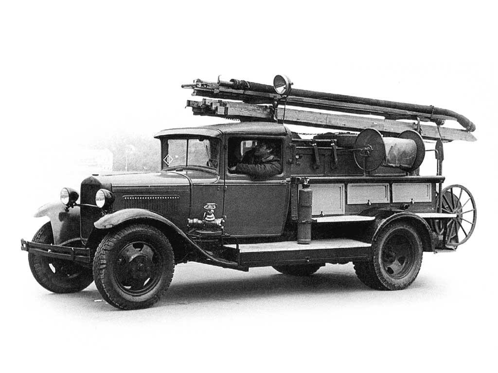 Пожарный автонасос ПМГ-1 шасси ГАЗ-АА