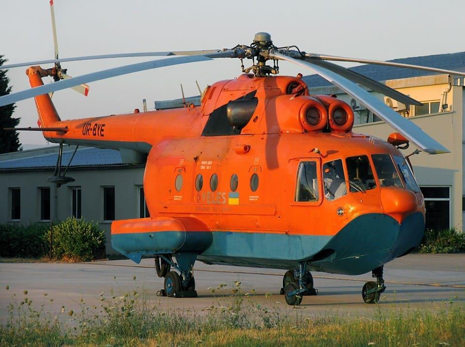 Пожарный вертолет Ми-14ПЖ компании «Велес»