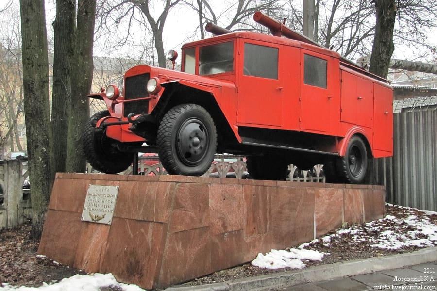 Памятник смоленским пожарным погибшим в боях за Родину и на пожарах