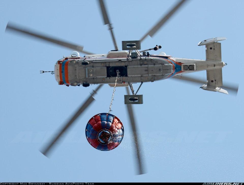 Пожарный вертолет Ка-32А1 с ВСУ