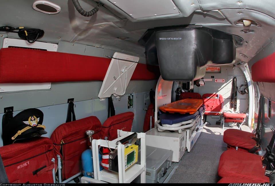 Пожарно-спасательный вертолет Ка-32А11BC. Салон