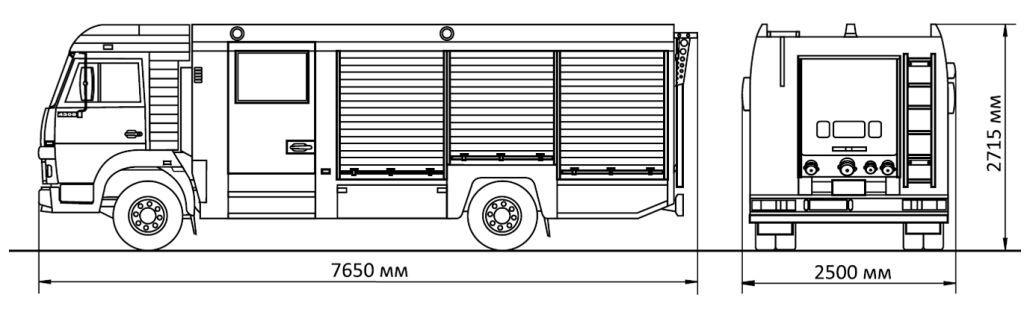 АЦ-2,0-40 (КАМАЗ-4308) габариты