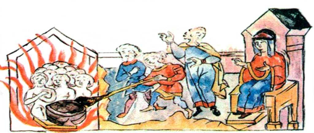 Вторая месть княгини Ольги: сожжение древлянских послов в бане