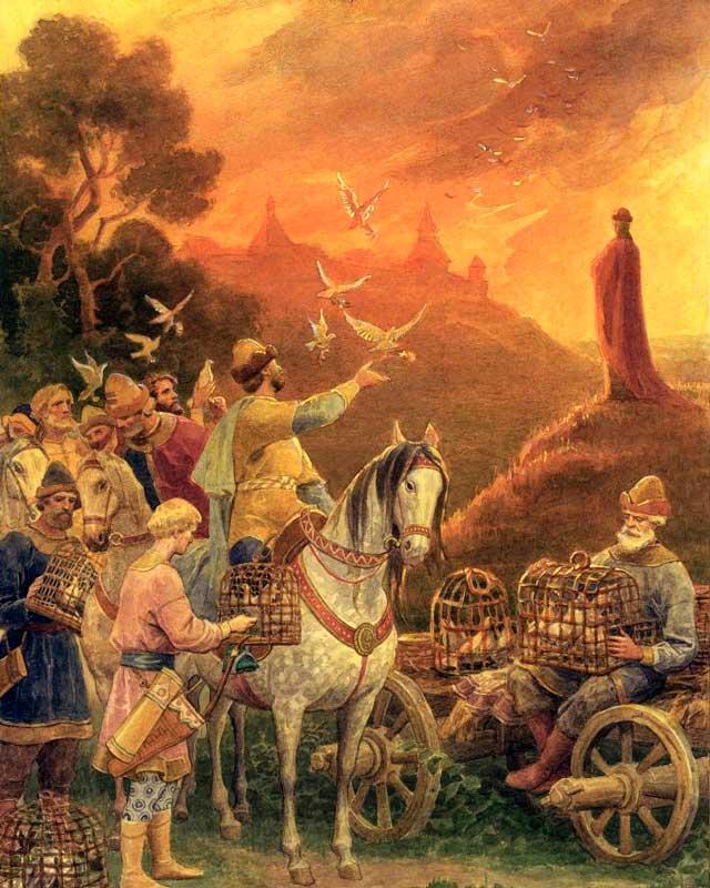 Четвертая месть княгини Ольги: сожжение города Искоростень