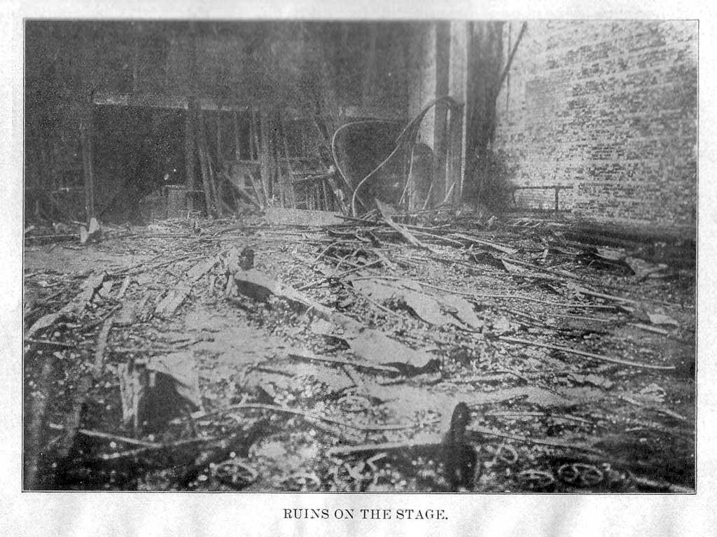 Последствия пожара в театре «Ирокез» (Чикаго, США, 1903 год)