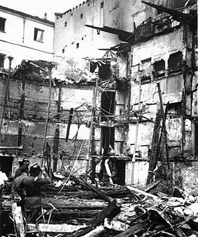 Руины театра «Новедадес» после пожара (Мадрид, Испания, 1928 год)