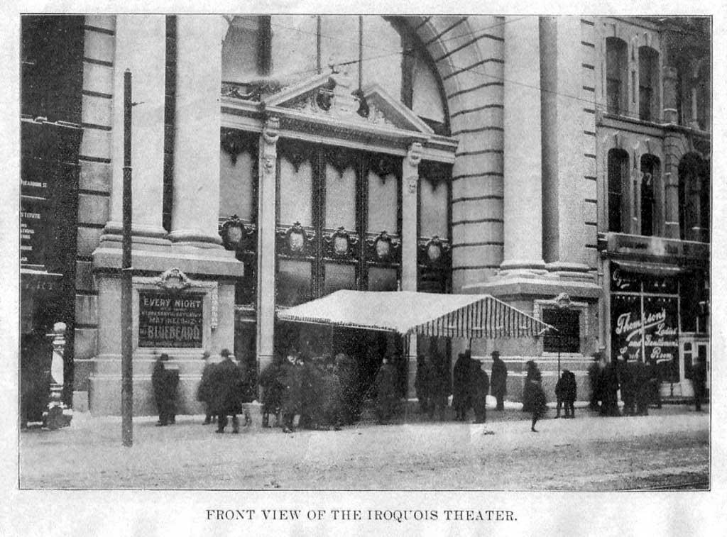 Театр «Ирокез» перед пожаром (Чикаго, США, 1903 год)