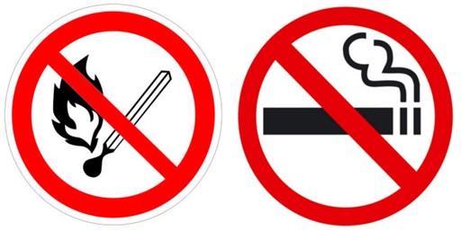 Комбинация знаков о запрете курения
