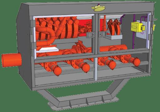Блок пожарных гидрантов в укрытии Короб (Рис. 1)