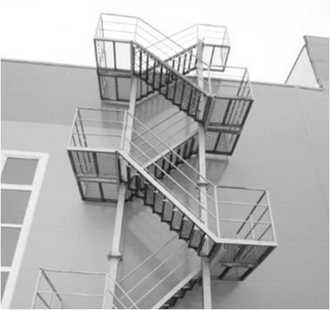 Лестницы 3-го типа наружные открытые