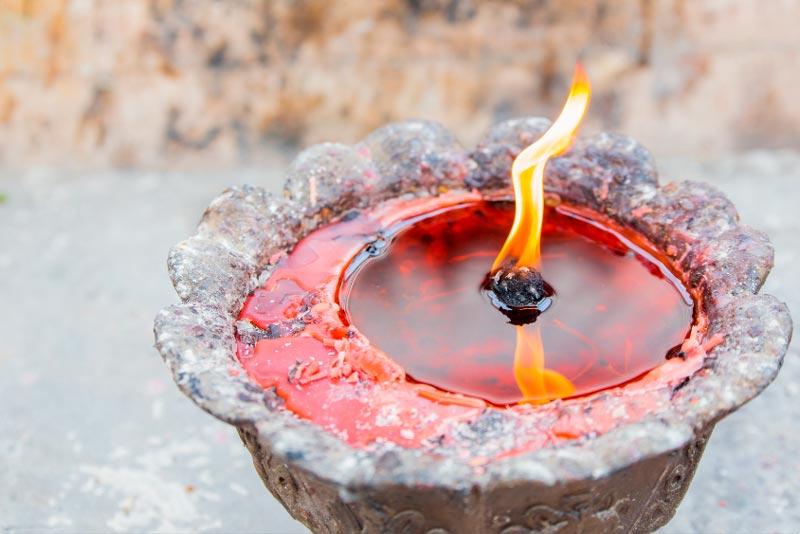 Выгорание парафина (стеарина)