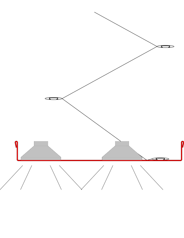 Схема интеграции в отсекающую шину взрыво- и пожаробезопасных светильников