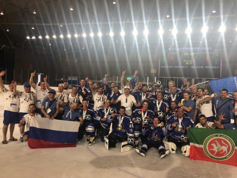 Хоккеисты МЧС России стали чемпионами мира среди полицейских и пожарных