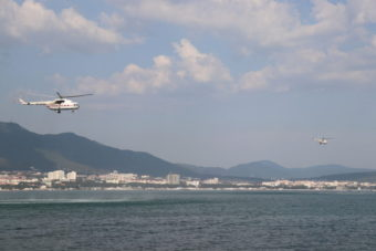 В Геленджике проходят тренировки летного состава авиации МЧС России