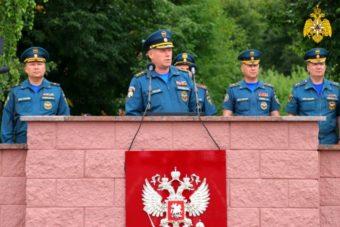 Главному управлению МЧС России по Иркутской области торжественно вручили новую технику