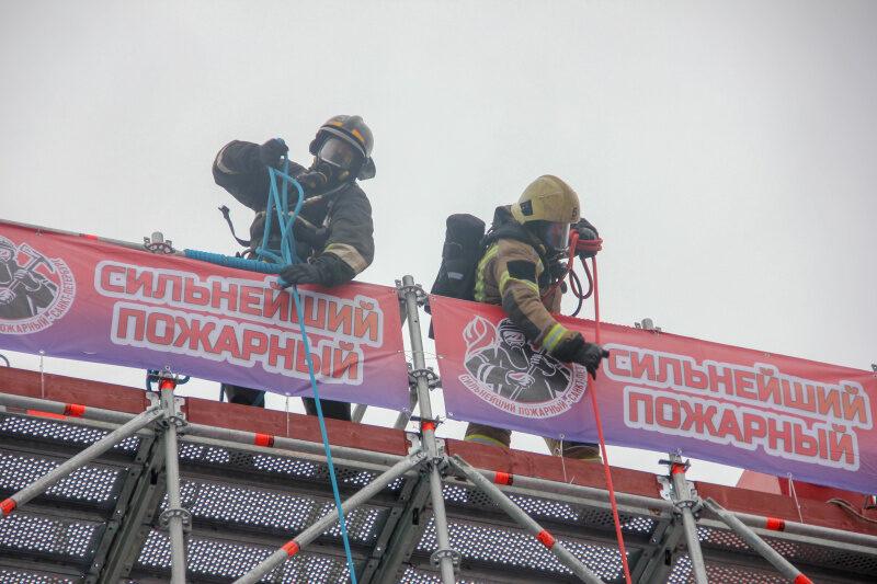 В Санкт-Петербурге прошли соревнования «Сильнейший пожарный»